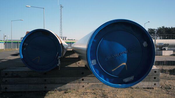 Pobřežní objekty plynovodu Nord Stream 2 v německém Lubminu - Sputnik Česká republika