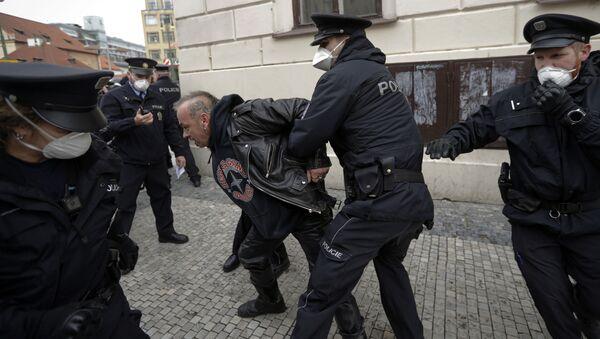 Protesty v Praze. Ilustrační foto - Sputnik Česká republika