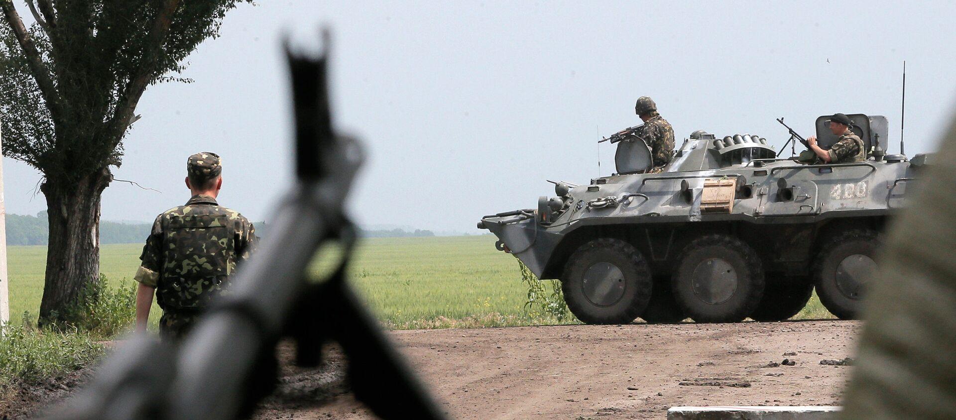 Ukrajinští vojáci v zóně konfliktu na východě Ukrajiny. Ilustrační foto - Sputnik Česká republika, 1920, 06.04.2021