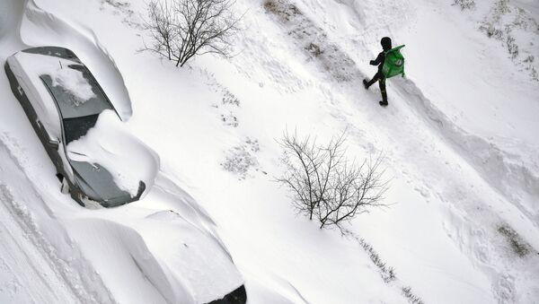 Silné sněžení. Ilustrační foto - Sputnik Česká republika