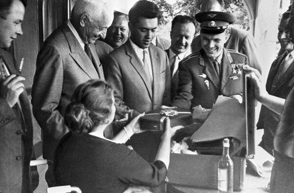 Cesta kosmonauta SSSR, hrdiny Sovětského svazu Jurije Alexejeviče Gagarina do Kanady, 1961. - Sputnik Česká republika