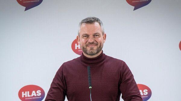 Předseda strany Hlas-sociální demokracie Peter Pellegrini - Sputnik Česká republika