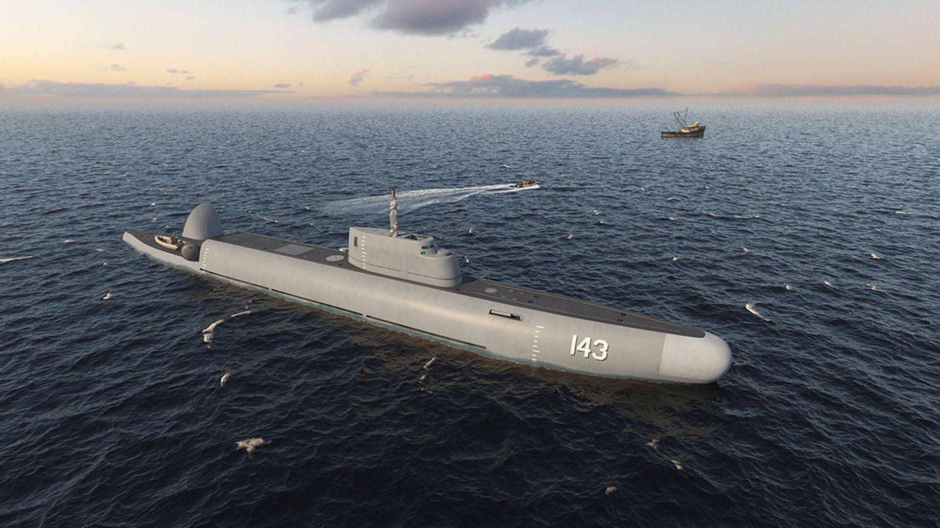 Projekt ruské ponorné hlídkové lodě Straž  - Sputnik Česká republika, 1920, 18.04.2021