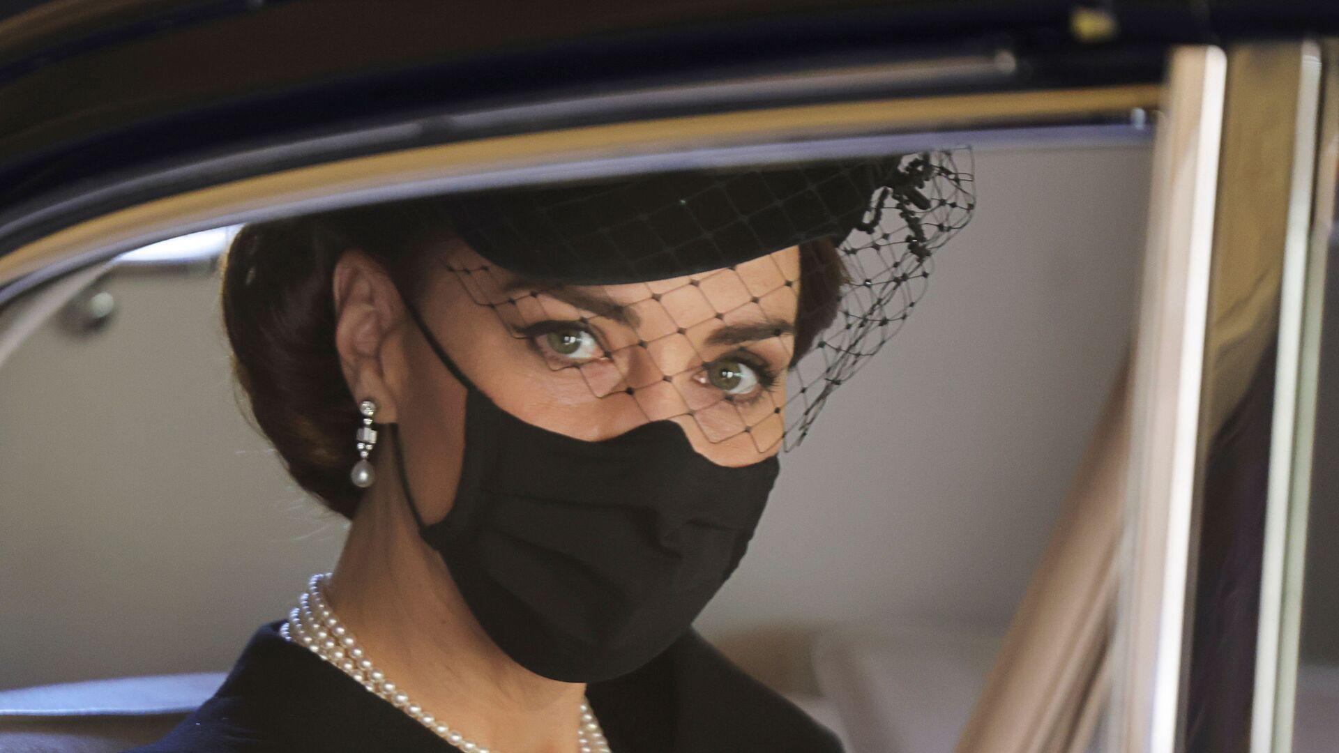 Kate Middletonová na pohřbu prince Philipa - Sputnik Česká republika, 1920, 23.04.2021