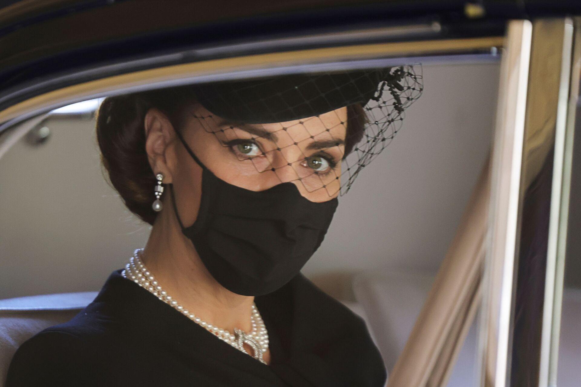 Kate Middletonová na pohřbu prince Philipa - Sputnik Česká republika, 1920, 20.04.2021
