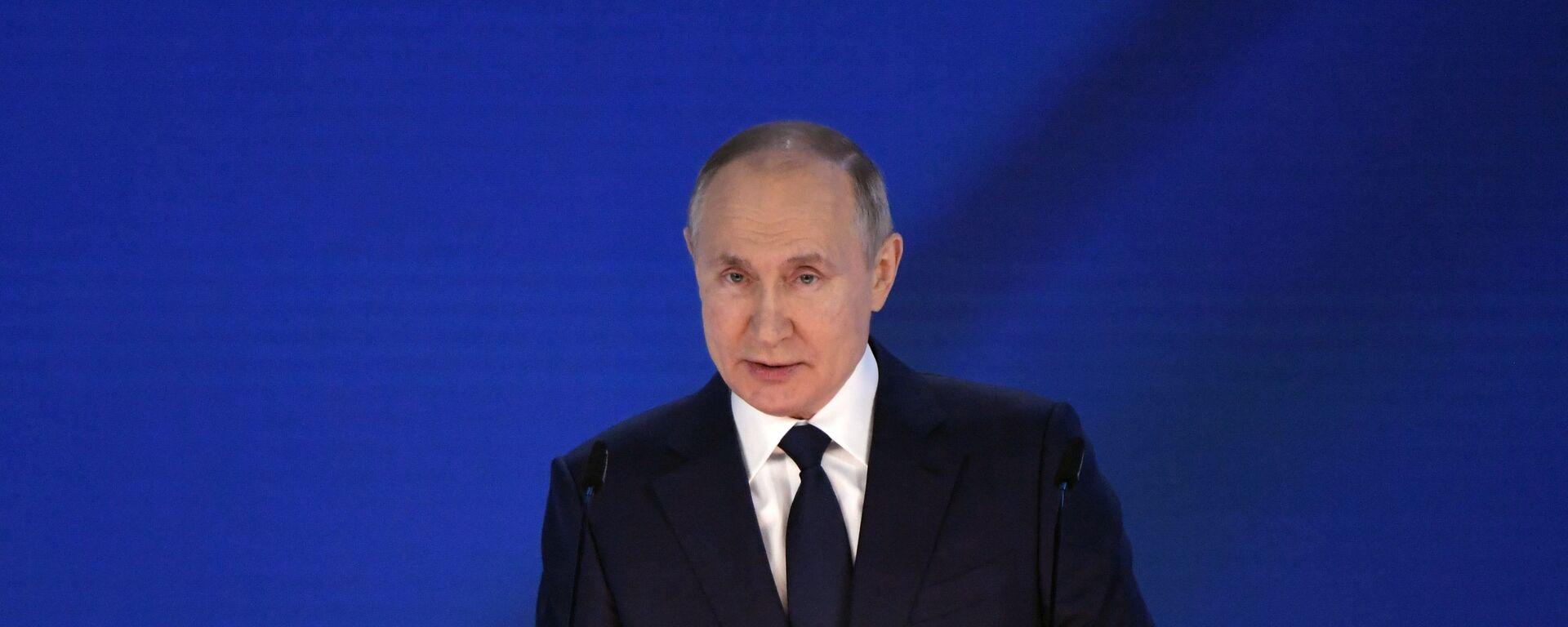 Ruský prezident Vladimir Putin vystupuje s posláním Federálnímu shromáždění (21. 04. 2021) - Sputnik Česká republika, 1920, 04.06.2021
