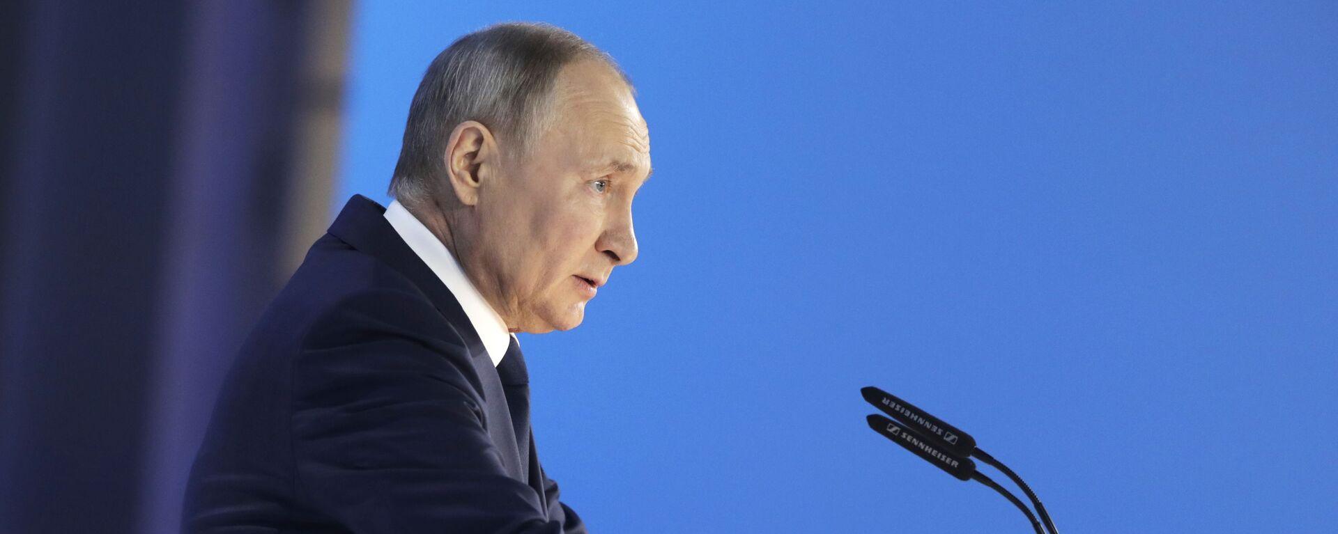 Ruský prezident Vladimir Putin - Sputnik Česká republika, 1920, 22.04.2021