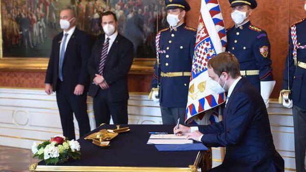 Новый министр иностранных дел Чехии Якуб Кулханек вступает в должность - Sputnik Česká republika