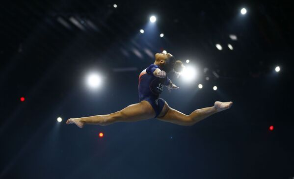 Francouzka Melanie de Jesus dos Santosová na Mistrovství Evropy v gymnastice 2021, Švýcarsko - Sputnik Česká republika