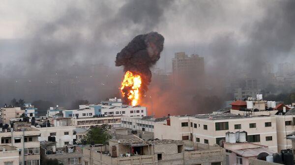 Авиаудары Израиля по Газе  - Sputnik Česká republika