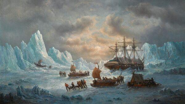 Картина Франсуа Мусена  В поисках сэра Джона Франклина в Арктике - Sputnik Česká republika