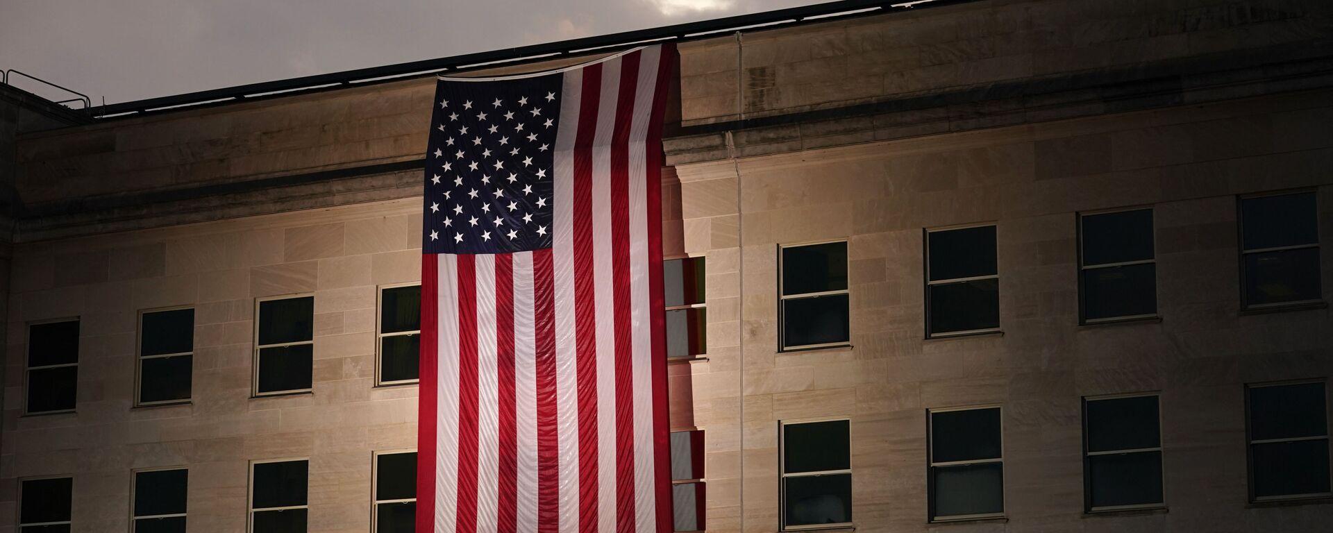 Americká vlajka na budově Pentagonu - Sputnik Česká republika, 1920, 27.08.2021