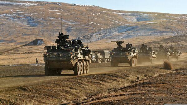 Americké pancéřované stroje Stryker - Sputnik Česká republika