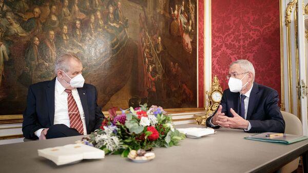 Встреча президента Чехии Милоша Земана и президента Австрии Александра Ван дер Беллена  - Sputnik Česká republika