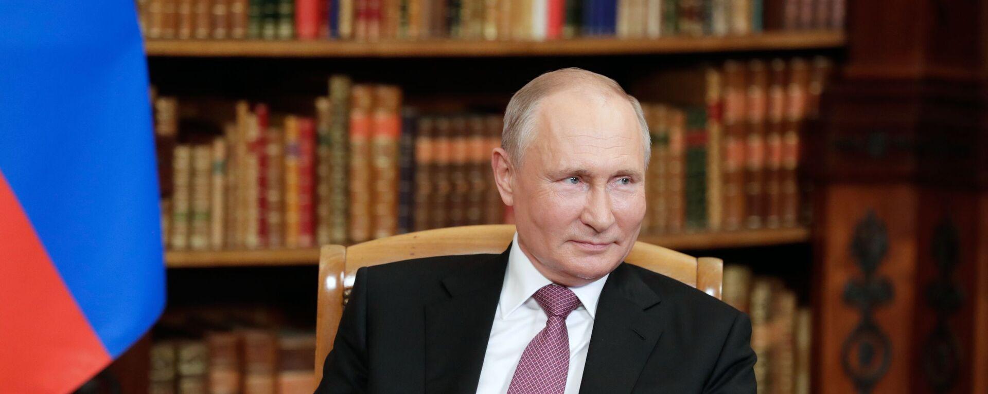 Ruský prezident Vladimir Putin na jednáních s americkým prezidentem Joe Bidenem v Ženevě - Sputnik Česká republika, 1920, 07.07.2021