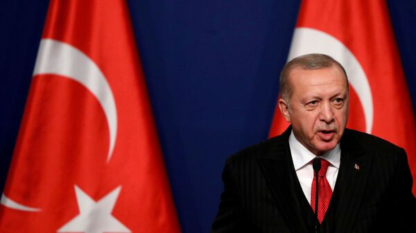 Президент Турции Реджеп Тайип Эрдоган - Sputnik Česká republika