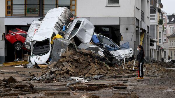 Последствия вызванного сильными дождями наводнения в западной Германии - Sputnik Česká republika