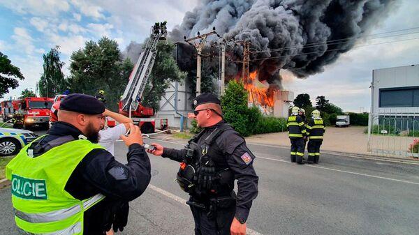 Пожар в Праге, Чехия - Sputnik Česká republika