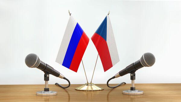 Российский и чешский флаги на столе переговоров - Sputnik Česká republika