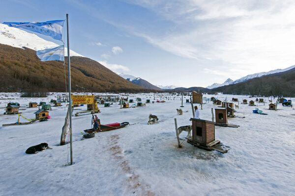 A tady máme pohled na komplex Siberianos de Fuego v údolí de las Cotorras v Argentině. - Sputnik Česká republika