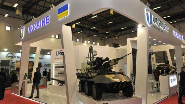 Stánek Ukroboronprom na výstavě vojenské techniky IDEF-2017 v Turecku - Sputnik Česká republika