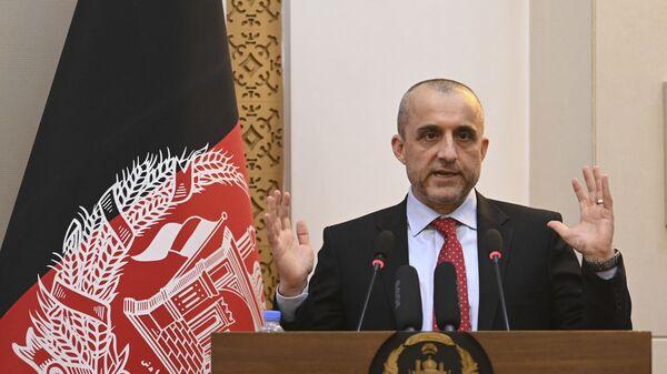 Вице-президент Афганистана Амрулла Салех на мероприятии в президентском дворце Афганистана в Кабуле  - Sputnik Česká republika