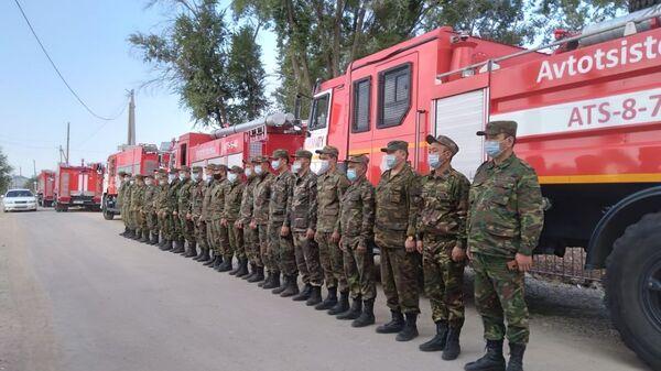 Пожарные подразделений ДЧС Жамбылской области, Казахстан - Sputnik Česká republika