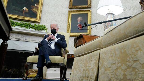 Президент США Джо Байден на встрече с премьер-министром Израиля Нафтали Беннетом - Sputnik Česká republika