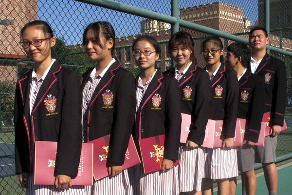 Čínští studenti se připravují na slavnostní otevření kampusu Haileybury College - Sputnik Česká republika