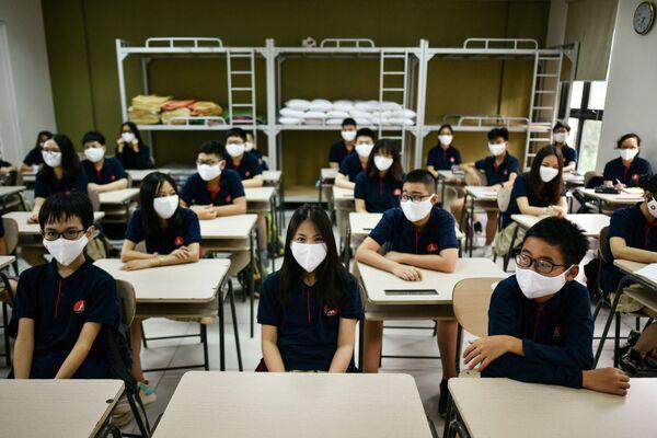 Ученики в школе Марии Кюри, Вьетнам  - Sputnik Česká republika