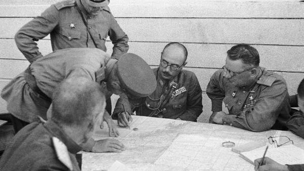 Подписание акта о капитуляции 3-й Квантунской армии в городе Ванцине, 1945 год - Sputnik Česká republika