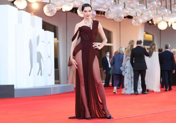 Italská modelka Mariacarla Boscono na slavnostním zahájení 78. mezinárodního filmového festivalu v Benátkách - Sputnik Česká republika
