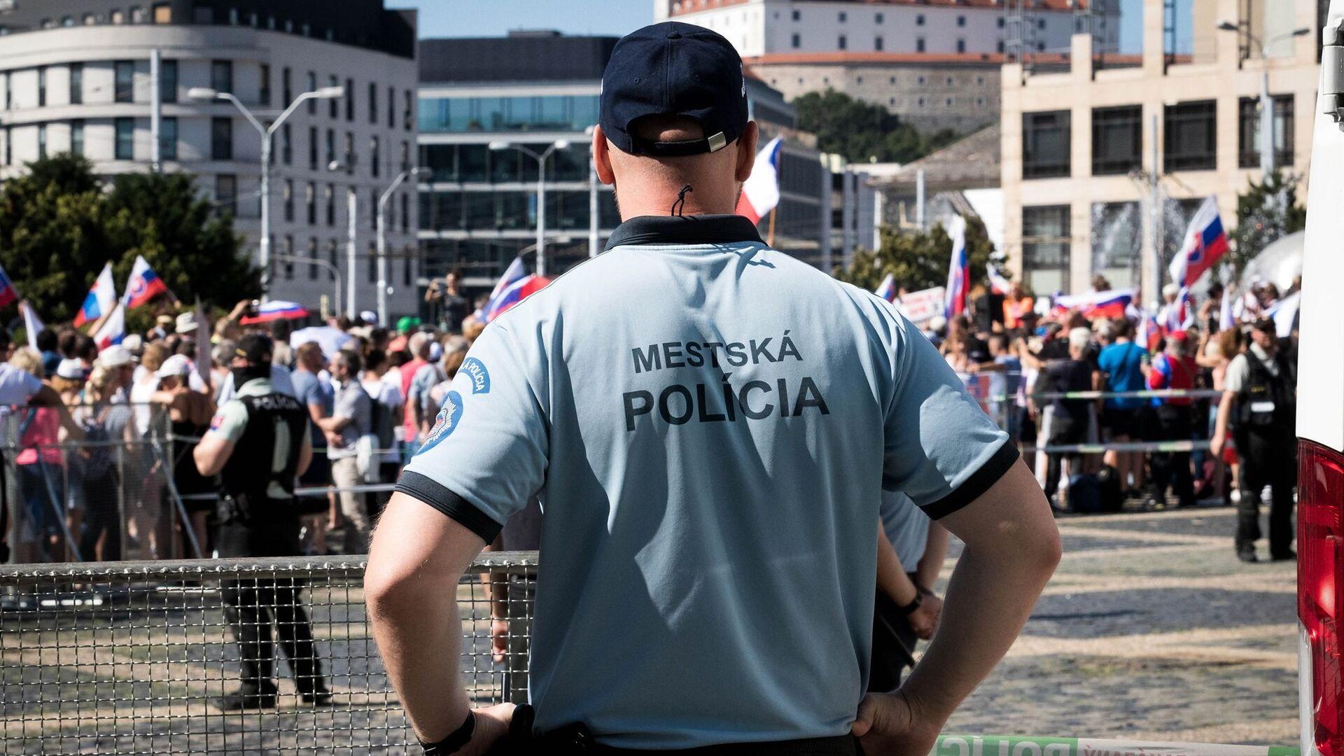 Protesty v Bratislavě na Slovensku - Sputnik Česká republika, 1920, 04.09.2021