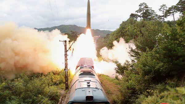 Запуск ракеты в КНДР - Sputnik Česká republika