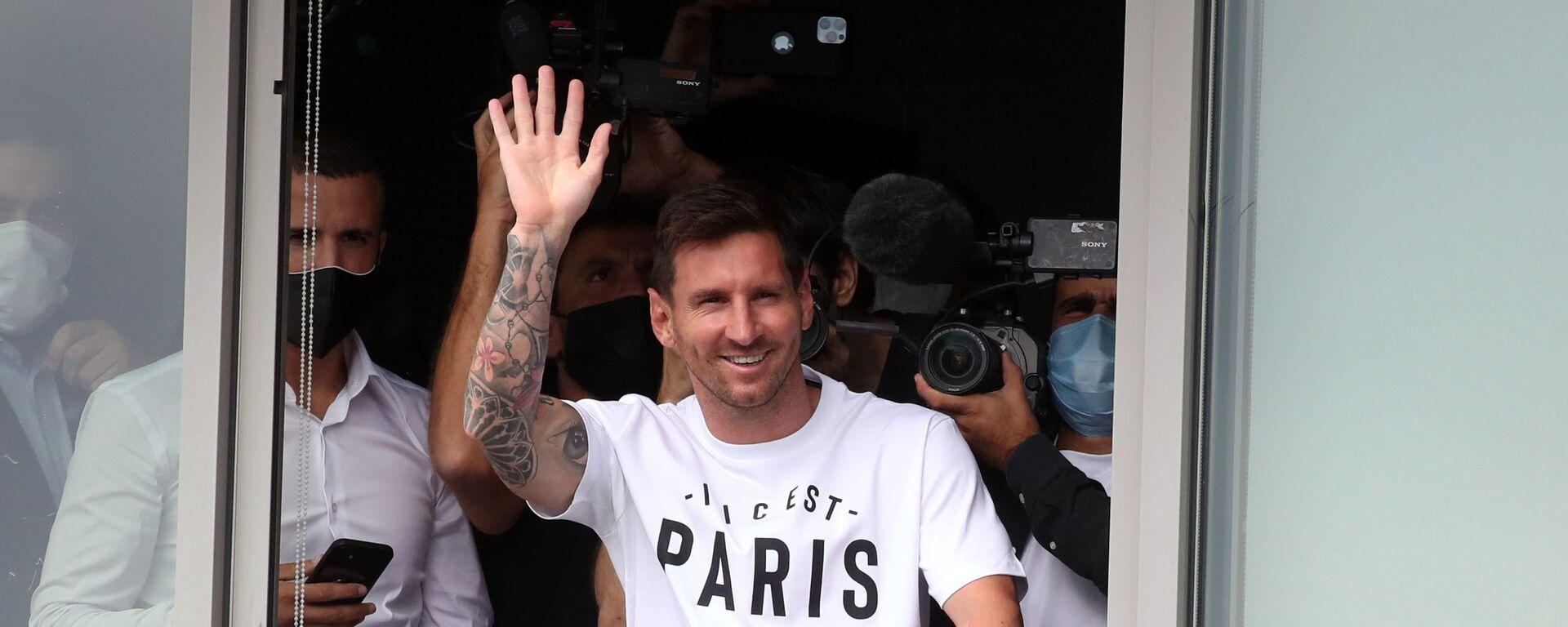 Lionel Messi po příletu do Paříže - Sputnik Česká republika, 1920, 18.09.2021