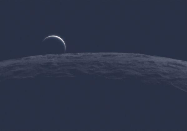 Fotografie Beyond the Limb francouzského fotografa Nicolase Lefaudeuxe, vítěže v kategorii Our Moon soutěže Royal Observatory's Astronomy Photographer of the Year 13 - Sputnik Česká republika