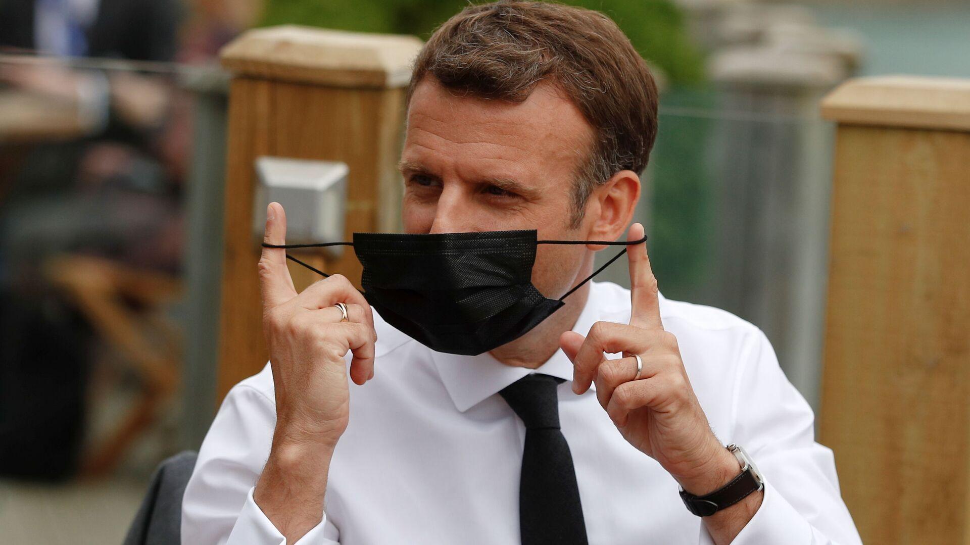 Francouzský prezident Emmanuel Macron - Sputnik Česká republika, 1920, 19.09.2021