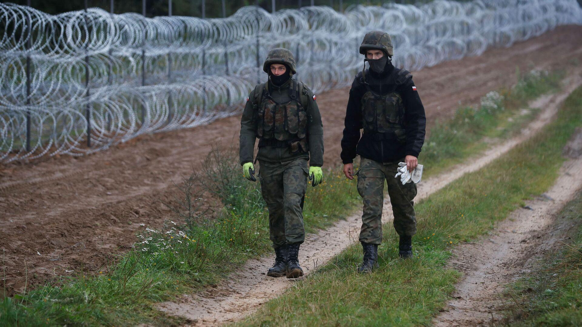 Pohraniční stráž na polsko-běloruské hranici - Sputnik Česká republika, 1920, 20.09.2021