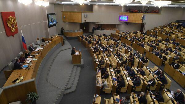 Депутаты на пленарном заседании Государственной Думы РФ - Sputnik Česká republika