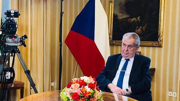 Президент Чехии Милош Земан - Sputnik Česká republika