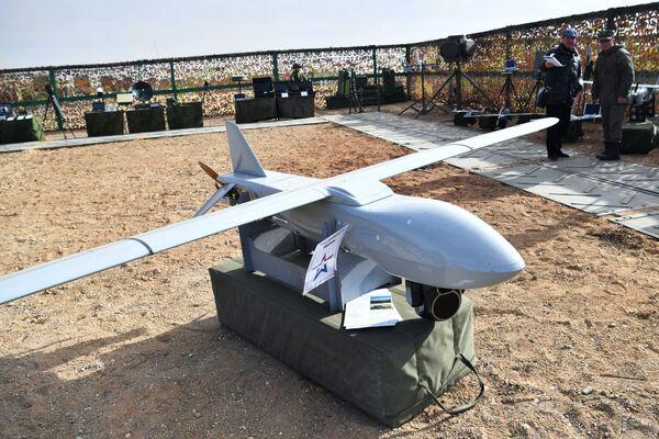 Bezpilotní letoun Merlin na výstavě zbraní - Sputnik Česká republika