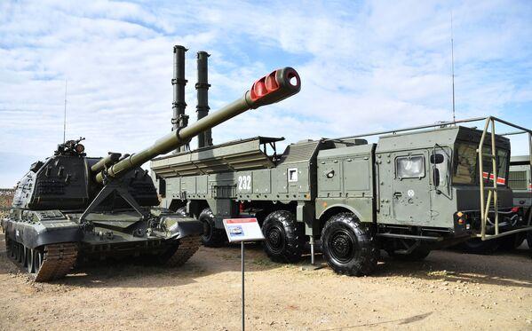 Samohybné dělo Msta-S na výstavě zbraní - Sputnik Česká republika