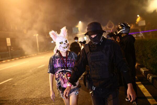 Protivládní demonstranti v Bangkoku - Sputnik Česká republika