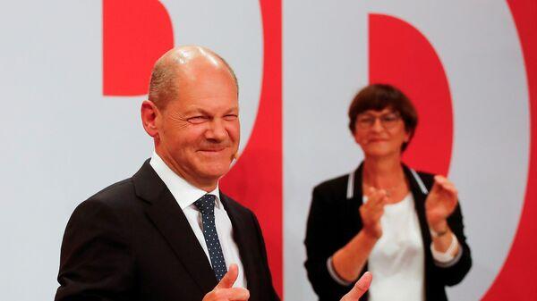 Vůdce Sociálnědemokratické strany Německa Olaf Scholz - Sputnik Česká republika