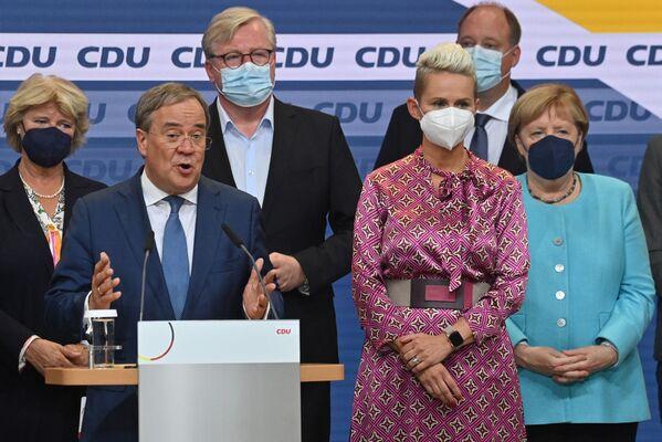 Předseda CDU Armin Laschet, jehož strana zaznamenala nejhorší výsledek ve své historii. - Sputnik Česká republika