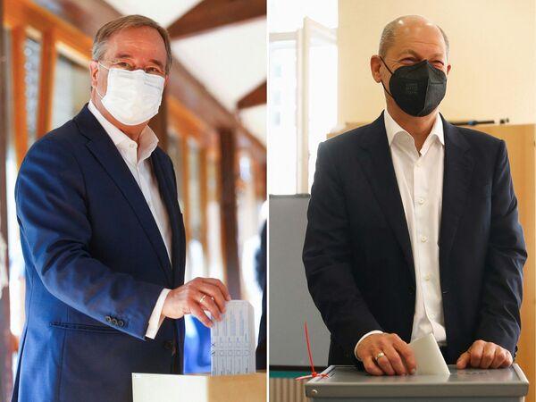 Předseda CDU Armin Laschet a vicekancléř a spolkový ministr financí Olaf Scholz. - Sputnik Česká republika