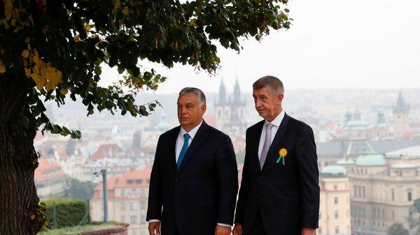 Maďarský premiér Viktor Orbán a český premiér Andrej Babiš - Sputnik Česká republika