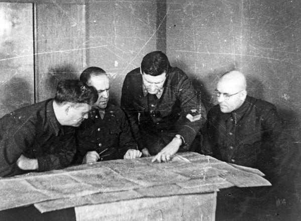 Štáb západní fronty během bitvy u Moskvy v roce 1941. - Sputnik Česká republika