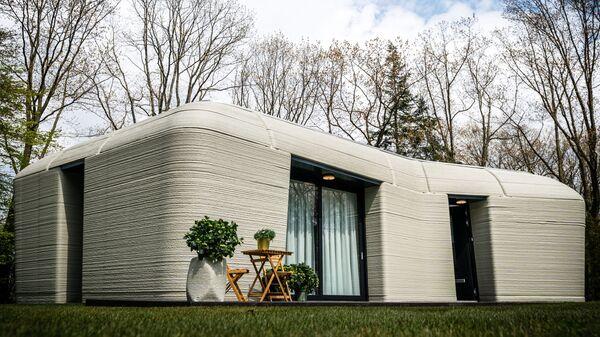 Первый дом из бетона, напечатанный на 3D-принтере, Нидерланды  - Sputnik Česká republika