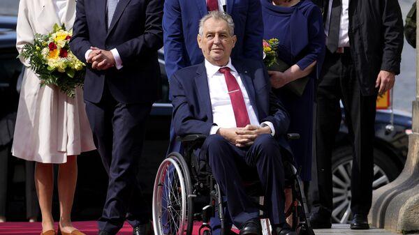 Президент Чешской Республики Милош Земан Пражском Граде в Праге, Чехия  - Sputnik Česká republika